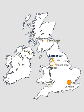 Location map for Lancaster